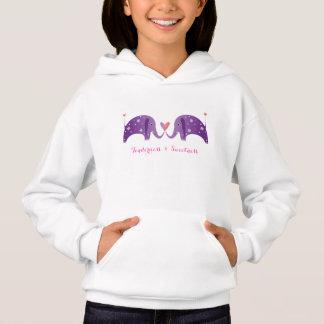 Couple of purple elephants- tenderness & sweetness hoodie