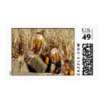 Couple of Scarecrows Postage
