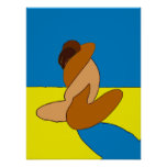 Couple On Beach Abstract Poster