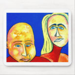 Couple on Beach Mouse Mats