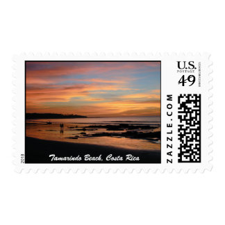 Couple on Beach, Tamarindo Beach, Costa Rica Postage Stamps