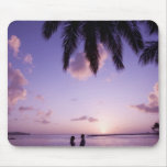 Couple on beach, Windjammer Landing, St. Lucia Mouse Pad