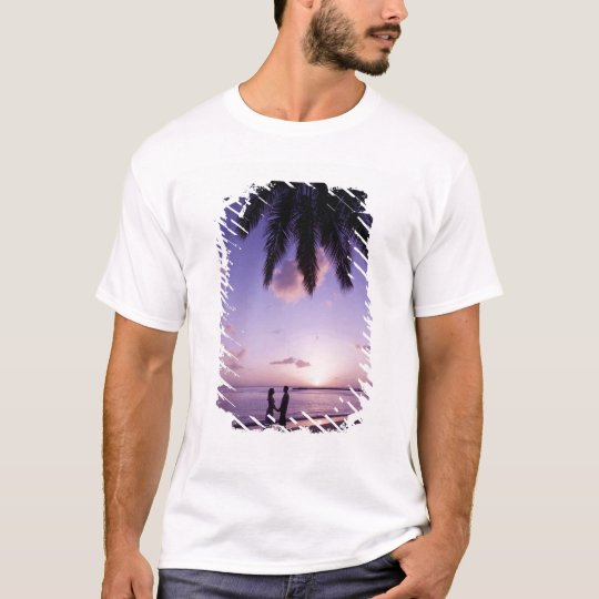 Couple on beach, Windjammer Landing, St. Lucia T-Shirt