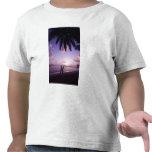 Couple on beach, Windjammer Landing, St. Lucia T-shirts