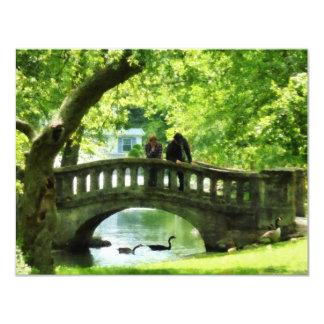 Couple on Bridge in Park Card