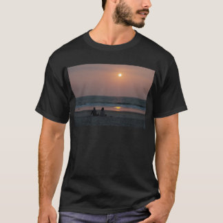 Couple on the Beach at Sunset T-Shirt