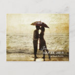 couple on the beach/Save The Date Announcement Postcard