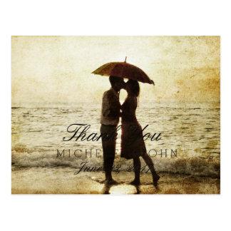 couple on the beach/Thank You Postcard