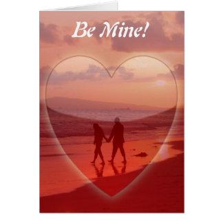 Couple on the Beach Valentine Card