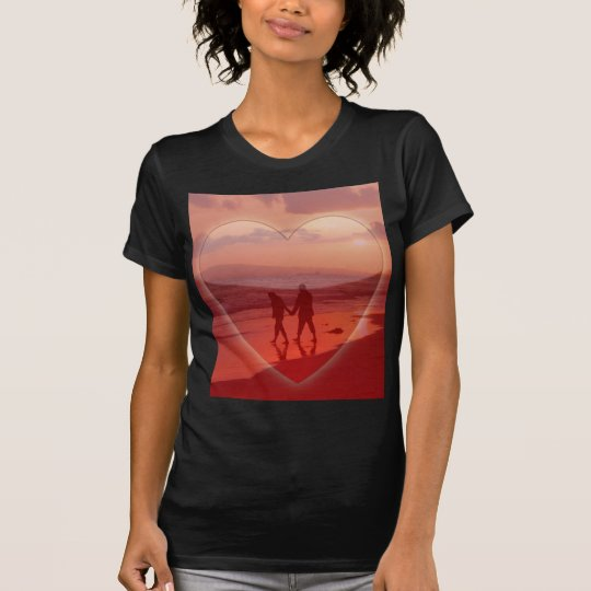 Couple on the Beach Valentine T-Shirt