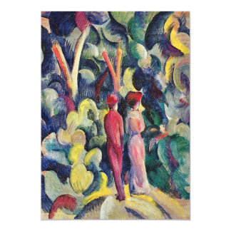 Couple on the Forest Track by August Macke Card