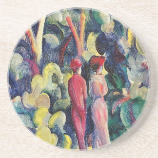 Couple on the Forest Track by August Macke Coaster