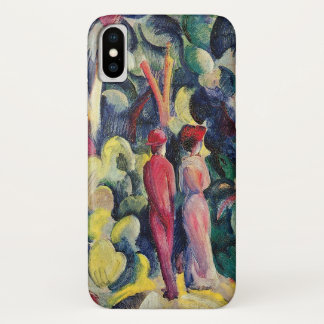 Couple on the Forest Track by August Macke iPhone X Case