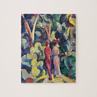 Couple on the Forest Track by August Macke Jigsaw Puzzle