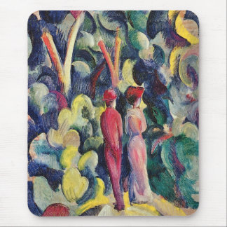 Couple on the Forest Track by August Macke Mouse Pad