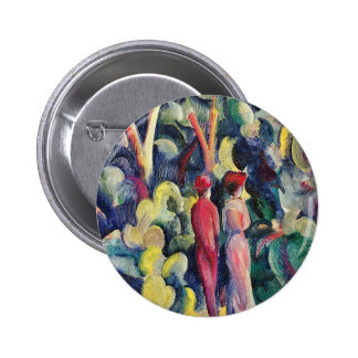 Couple on the Forest Track by August Macke Pinback Button