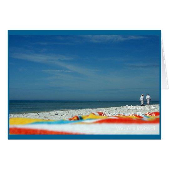 Couple on the Sandy Beach Card