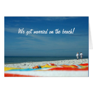 Couple on the Sandy Beach Greeting Card