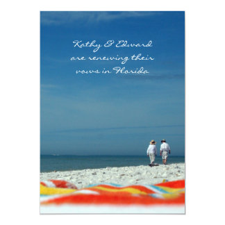 Couple on the Sandy Beach 5x7 Paper Invitation Card