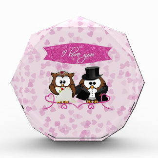 couple owl - I love you Acrylic Award