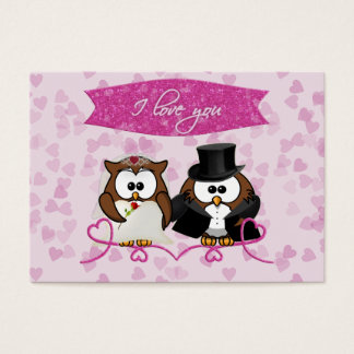 couple owl - I love you Business Card