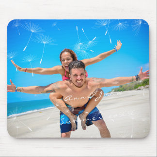Couple Photo Name Sweet Summer Dandelion Mouse Pad