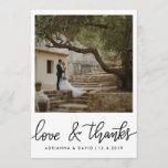 "Couple Photo Wedding Love And Thanks Script Thank You Card<br><div class=""desc"">Couple Photo Wedding Love And Thanks Script</div>"