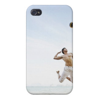 Couple Playing Beach Volleyball at Six Senses iPhone 4 Cases