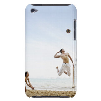 Couple Playing Beach Volleyball at Six Senses iPod Touch Case-Mate Case