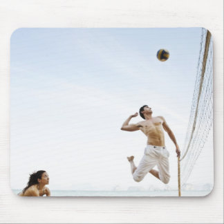 Couple Playing Beach Volleyball at Six Senses Mouse Pad