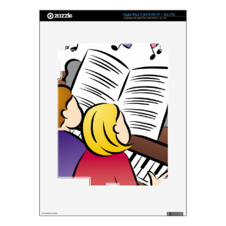 Couple Playing Piano Skins For iPad 3