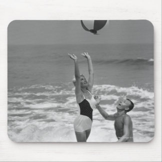 Couple Playing with a Beachball Mouse Pad