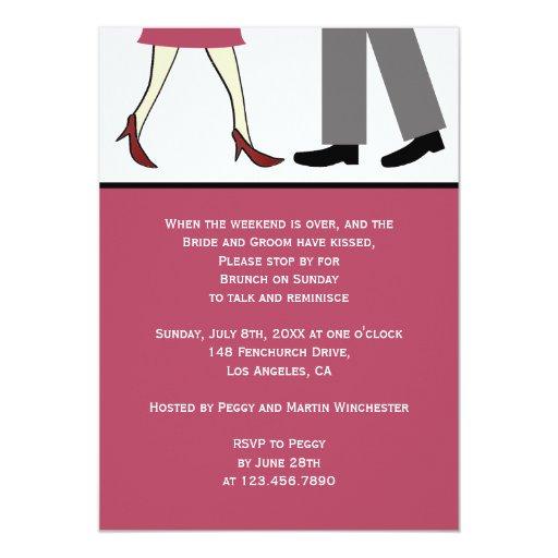 Couple Post Wedding Brunch 5x7 Paper Invitation Card