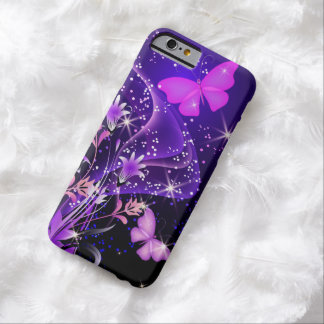 Couple Purple Butterflies Barely There iPhone 6 Case