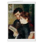 Couple Reading (Edmond Renoir and Marguerite Legra Greeting Card