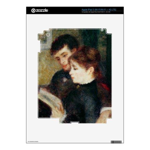 Couple Reading (Edmond Renoir and Marguerite Legra iPad 3 Decal