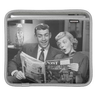 Couple Reading Magazine iPad Sleeve