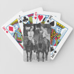Couple Riding Horses Bicycle Playing Cards