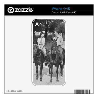 Couple Riding Horses Decals For The iPhone 4S