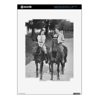 Couple Riding Horses iPad 3 Decals