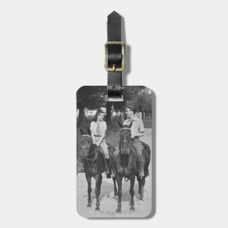 Couple Riding Horses Luggage Tag