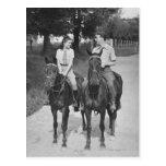 Couple Riding Horses Postcard