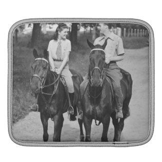 Couple Riding Horses Sleeve For iPads