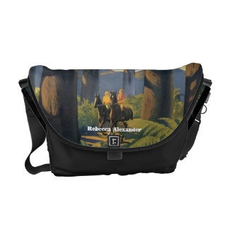 Couple Riding on Horses in Australia Travel Art Commuter Bags