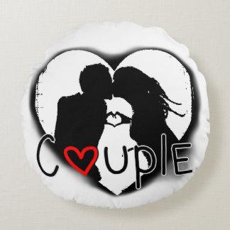 Couple Round Pillow
