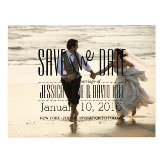 Couple Running on the Beach/Save The Date Postcard