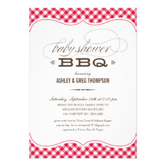 Couple s BBQ Baby Shower Invitations