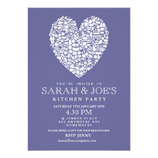Couple s New Kitchen House Warming Party Invite