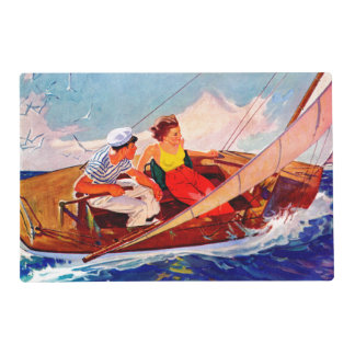 Couple Sailing by R.J. Cavaliere Placemat