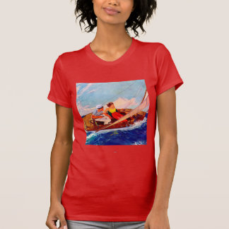 Couple Sailing by R.J. Cavaliere T-Shirt